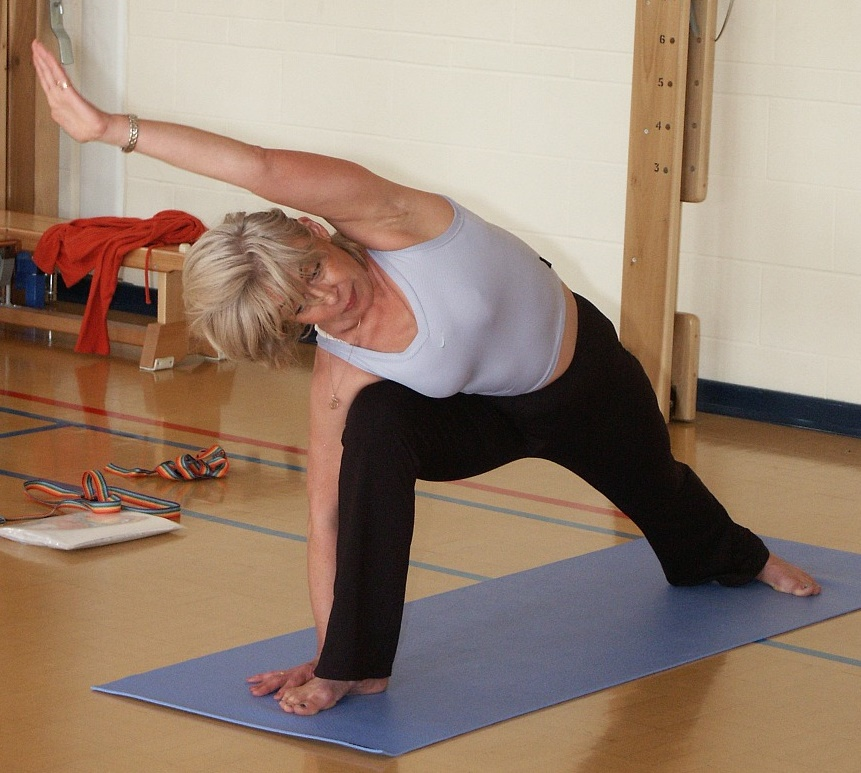 Treating sciatica pain with low-impact yoga postures.