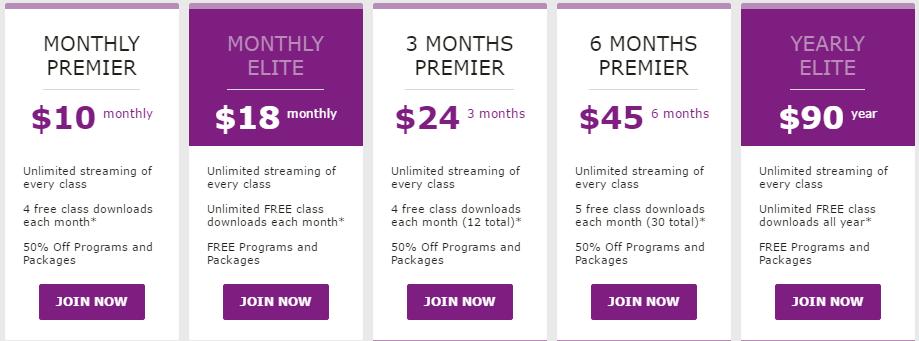 YogaDownload.com Prices