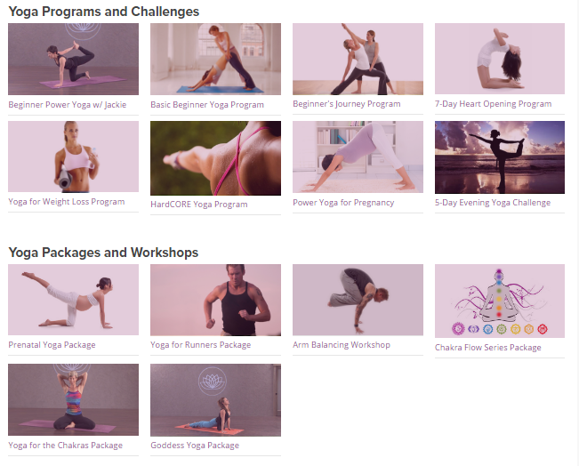 YogaDownload.com Programs