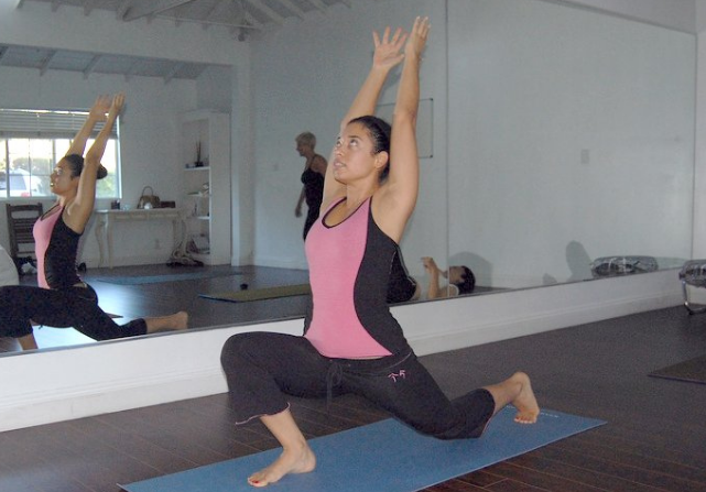 Extended Lunging Crescent Moon Pose